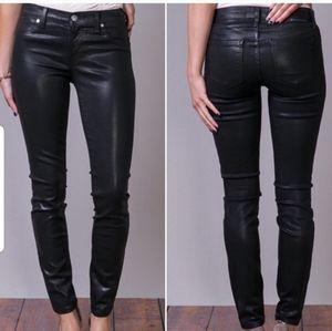 Henry & Belle coated black jeans